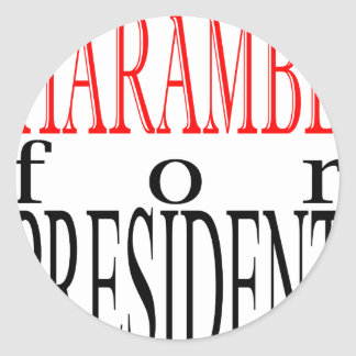 good harambe election president vote guardian gori round sticker