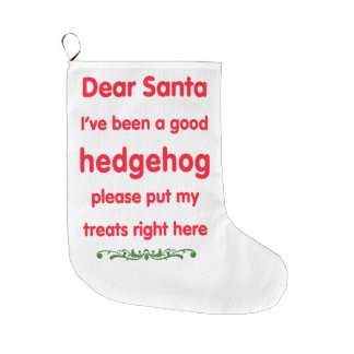 good hedgehog large christmas stocking
