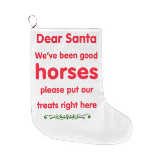 good horses large christmas stocking
