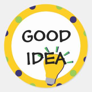 Good Idea School Sticker with Lightbulb