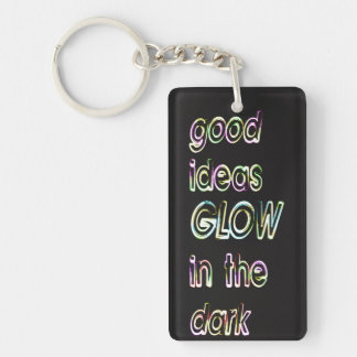 good ideas GLOW in the dark Single-Sided Rectangular Acrylic Keychain
