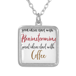 Good ideas silver plated necklace