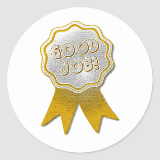 GOOD JOB GOLD RIBBON STICKERS