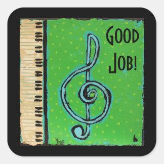 Good Job piano student stickers