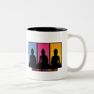 Good Karma Buddhas Two-Tone Coffee Mug