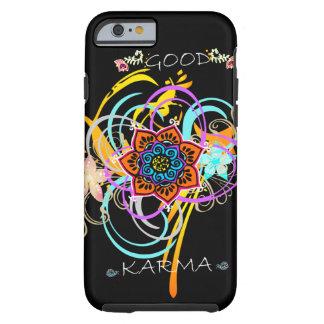 """Good Karma"" Mandala Flower Swirls iPhone 6 case"