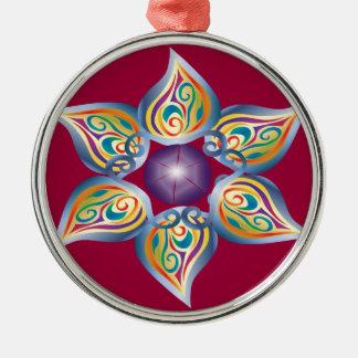 Good Karma Silver-Colored Round Ornament