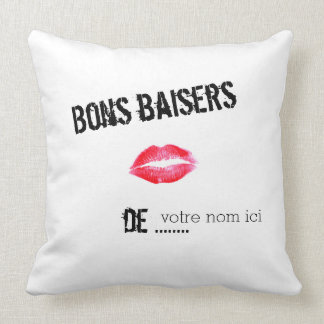 Good kisses of… throw pillow