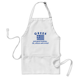 Good Looking Greek Standard Apron