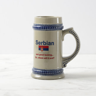 Good Looking Serbian Beer Stein