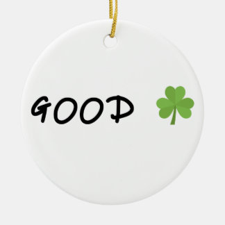 Good Luck 4 leaf clover Emoji Special one Ceramic Ornament