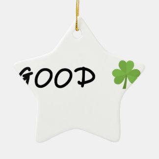 Good Luck 4 leaf clover Emoji Special one Ceramic Ornament