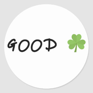 Good Luck 4 leaf clover Emoji Special one Classic Round Sticker