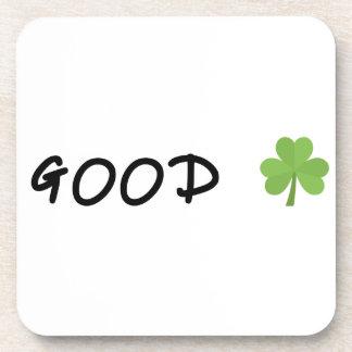 Good Luck 4 leaf clover Emoji Special one Coaster