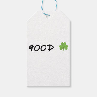 Good Luck 4 leaf clover Emoji Special one Gift Tags