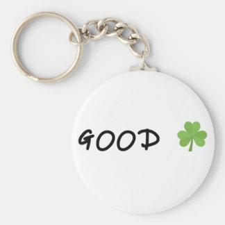Good Luck 4 leaf clover Emoji Special one Keychain