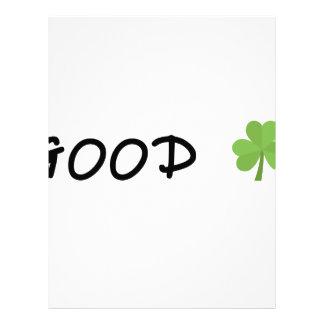 Good Luck 4 leaf clover Emoji Special one Letterhead