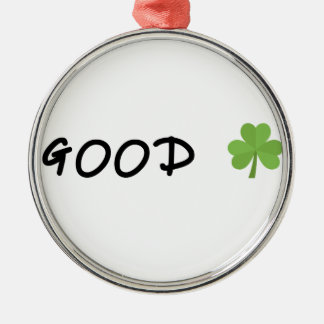 Good Luck 4 leaf clover Emoji Special one Metal Ornament