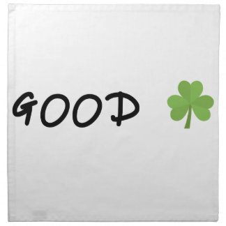 Good Luck 4 leaf clover Emoji Special one Napkin