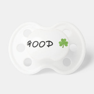 Good Luck 4 leaf clover Emoji Special one Pacifier