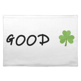 Good Luck 4 leaf clover Emoji Special one Placemat