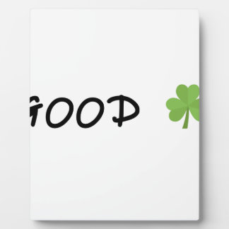 Good Luck 4 leaf clover Emoji Special one Plaque
