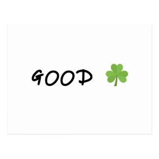 Good Luck 4 leaf clover Emoji Special one Postcard