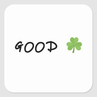 Good Luck 4 leaf clover Emoji Special one Square Sticker