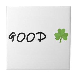 Good Luck 4 leaf clover Emoji Special one Tile