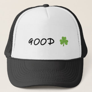Good Luck 4 leaf clover Emoji Special one Trucker Hat
