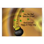 Good Luck And Happy St. Patty's Day Greeting Card