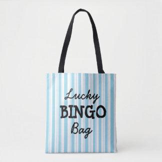 Good Luck BINGO Bag Blue Striped