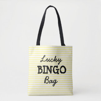 Good Luck BINGO Bag Yellow Striped