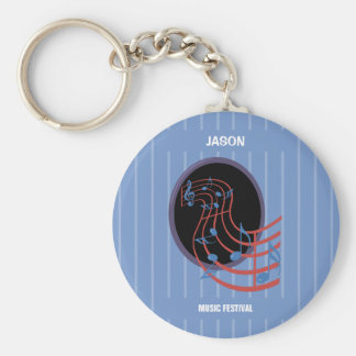 Good Luck, Black Music Circle Keychain