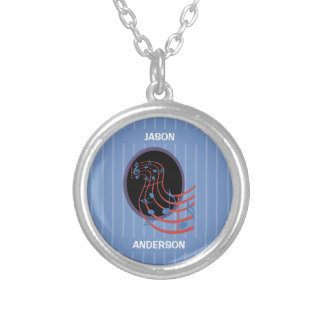Good Luck, Black Music Circle Silver Plated Necklace