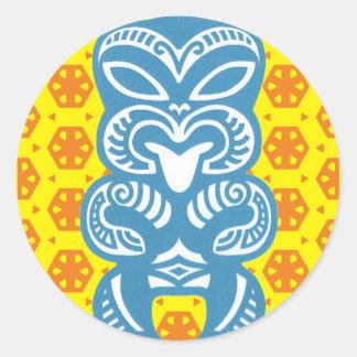 Good Luck Blue Tiki Figure Stickers