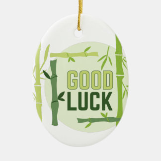 Good Luck Ceramic Oval Ornament