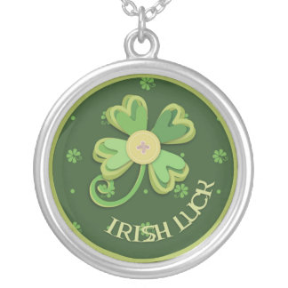 Good Luck Charm Round Pendant Necklace