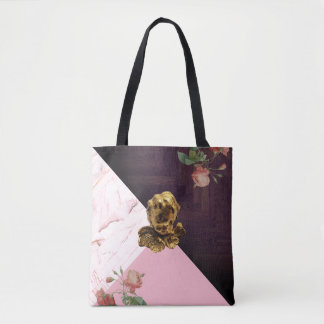 Good Luck Cherub in Rose Pink Statement Tote Bag