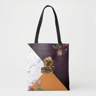 Good Luck Cherub in Tangerine Statement Carryall Tote Bag