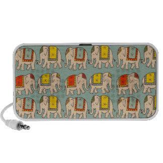 Good luck circus elephants cute elephant pattern iPod speakers