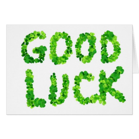 Good Luck Clover (Blank inside) Card