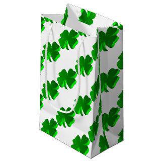 Good Luck Clover Pattern Green Funny Elegant Small Gift Bag