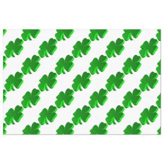 Good Luck Clover Pattern Green Funny Elegant Tissue Paper