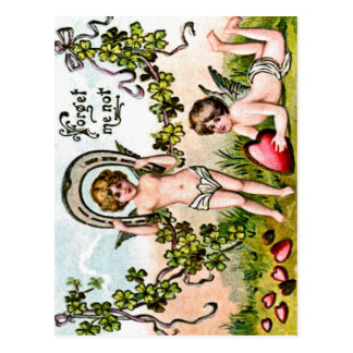 Good Luck Cupids Postcard