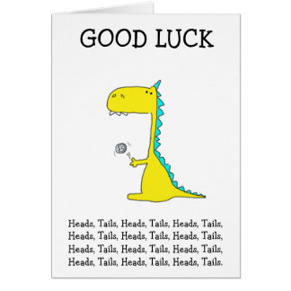 good luck dino card