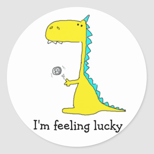 good luck dino stickers