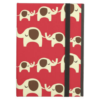 Good luck elephants cherry red cute nature pattern iPad air covers