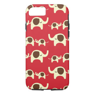 Good luck elephants cherry red cute nature pattern iPhone 8/7 case
