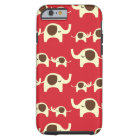 Good luck elephants cherry red cute nature pattern tough iPhone 6 case